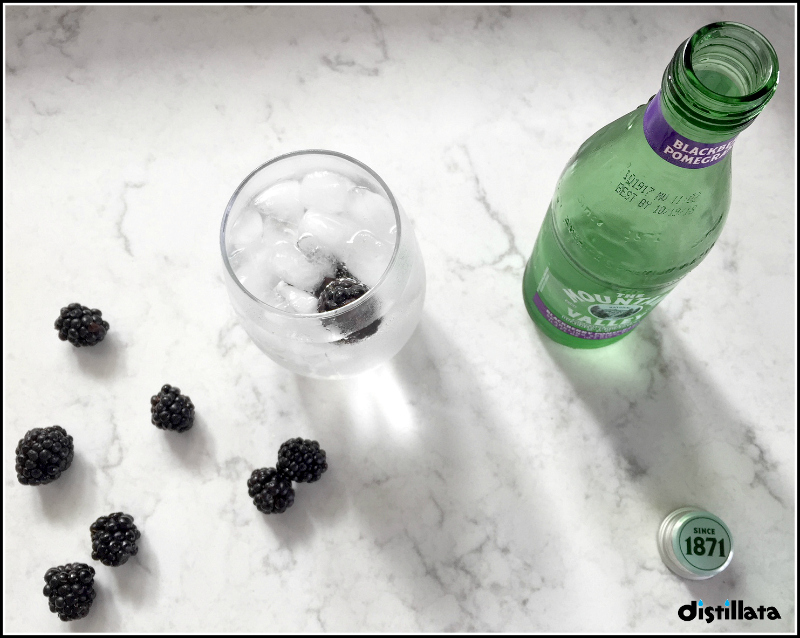Mountain Valley Blackberry Pomegranate sparkling water